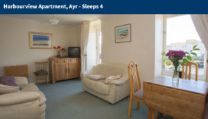 lounge Interior of Harbourview Apartment in Ayr