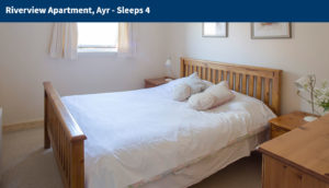Holiday Apartment Rentals in Ayr - Bedroom Interior Riverview, Ayrshire