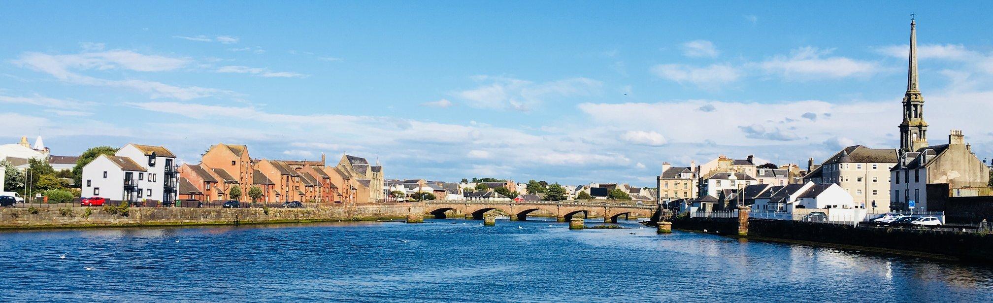 NorthHarbourStreetFlats Bridge and ayrTownHall Long