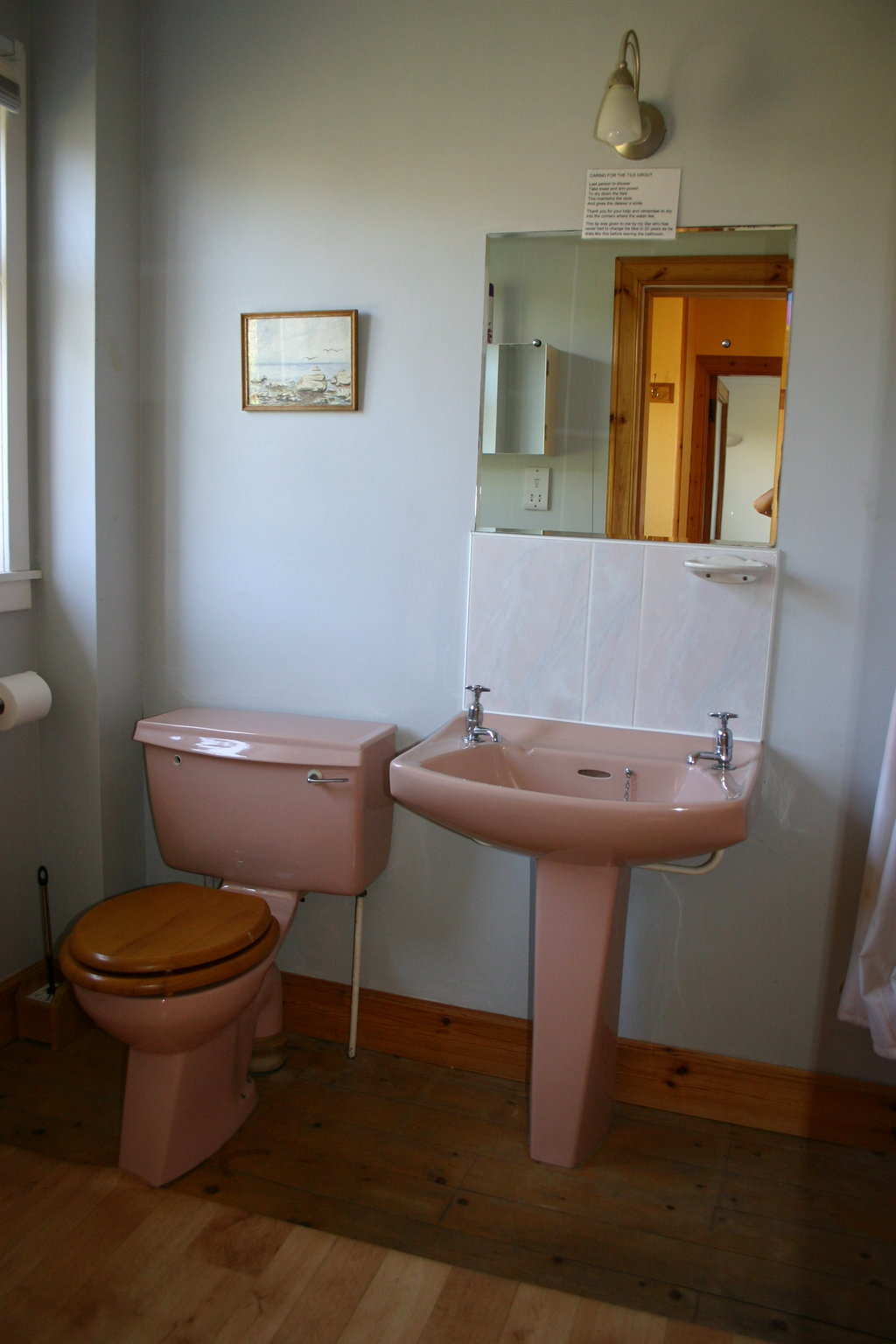 Prestwick bathroom downstairs with bath and shower