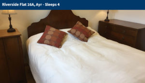 Double Bedroom Interior - Ayrshire Holiday Flat Rentals